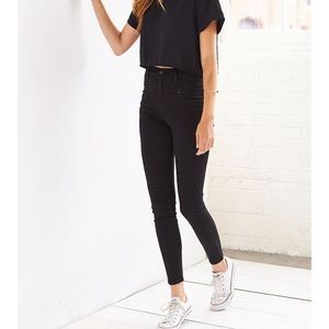 BDG high waisted skinny jeans in black